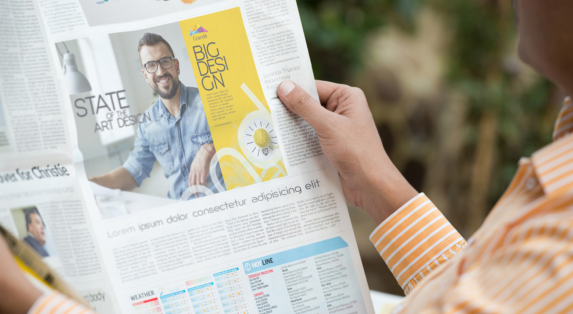 Newspaper Advert Mockups vol 1